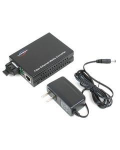 100TX to 100FX Multi-Mode SC Fiber Converter (2km, 1.2mi)