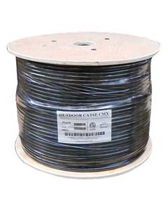 1000ft Cat6 500MHz UTP Direct Burial Outdoor Cable Black