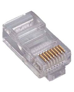 RJ45 Cat5e Plug Solid 50 Micron 3 Prong 20pk