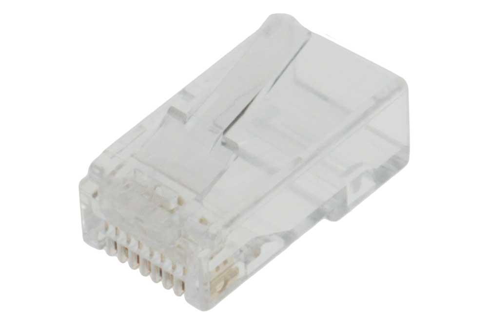 RJ45 Cat.6 Plug Stranded 50 Micron w//Inserter 20pk