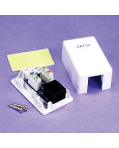 1 Port Cat5e Surface Mount Box , PCB Type