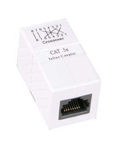 Cat5e RJ45 Inline Crossover Coupler White