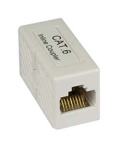 Cat 6 RJ45 Inline Coupler White