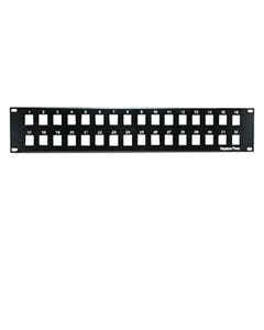 "2U 19"" 32 Port Blank Panel for Keystone Jack"