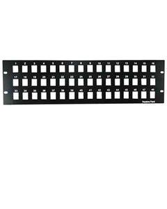 "3U 19"" 48 Port Blank Panel for Keystone Jack"