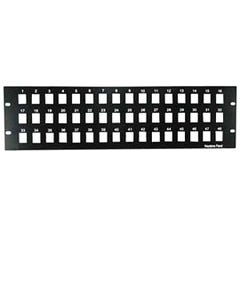 "3U 19"" 48 Port Blank Panel for Keystone Jack"