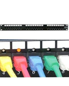 24 Port Cat6 110 Patch Panel Rackmount w/LED Indicator