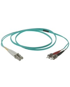 LC-ST 10Gb 50/125 LOMMF M/M Duplex Fiber Optic Cable
