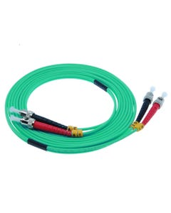 ST-ST 10Gb 50/125 LOMMF M/M Duplex Fiber Optic Cable
