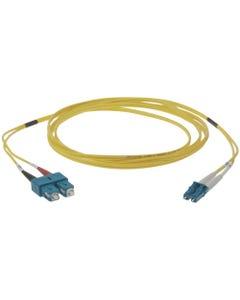 LC-SC Duplex Singlemode 9/125 Fiber Optic Cable