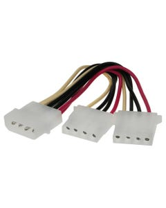 """8"""" Power Splitter Adapter Cable for Power Supply to CD-ROM and HDD"""