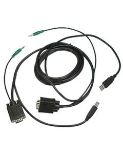 VGA-M/USB-A/3.5mm to VGA-M/USB-B/3.5mm KVM Cable