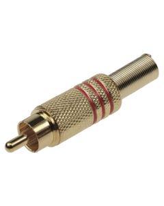 RCA Plug Metal Gold Plated w/Spring