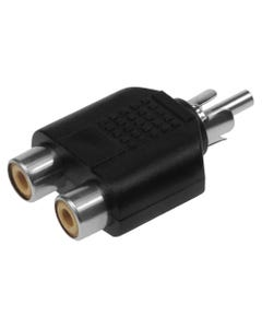 RCA Plug to 2 x RCA Jack Adapter
