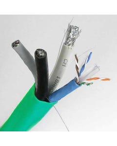 500ft 2x Cat6E + 2x RG6 Quad Composite Cable