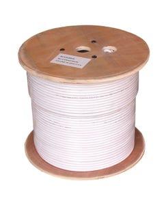 1000ft RG6 Quad Shield Coax Cable CMP, Bare Copper