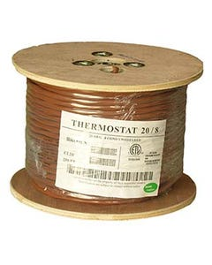 250Ft 20/8 Unshielded CMR Thermostat Cable Solid Copper PVC