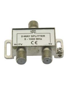 2 Way TV Signal Splitter AC Power Pass