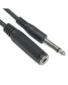 """1/4"""" Mono Male to Female Extension Cable"""