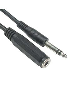 "1/4"" Stereo Male to Female Cable"