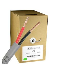 1000ft 18AWG/2 Power Wire CMR