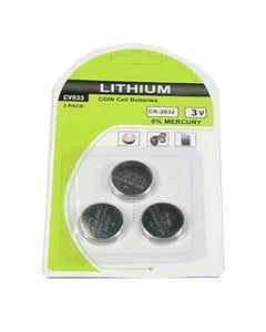 CR2032 3V Button Cell Battery 3Pack