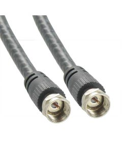 RG6 Male to Male UL F-Type Coaxial Cable Black