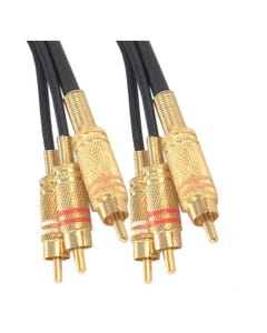 6ft RCA Stereo 3 in 1 Composite Cable Gold Plated