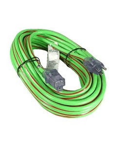 50ft 12/3 SJTW heavy Duty Power Cord w/LED Green