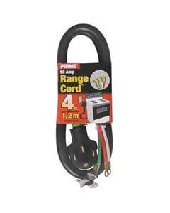 6/2 & 8/2 50 Amp Black 4-Wire Range Cord