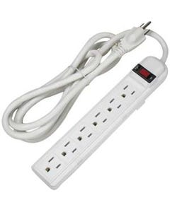 6ft 6-Outlet Surge Protector 15A 90J
