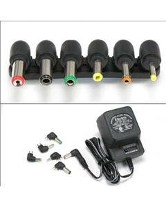 800mA Universal AC/DC adapter w/6 Plugs