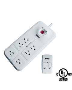 6 Outlet Energy Controlled Surge Protector w/Remote
