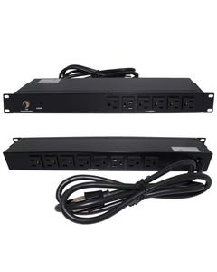 "19"" 1U Rackmount 14-Outlet PDU Metal Case 6Ft Power Cord AC120V 20A (16A UL)"