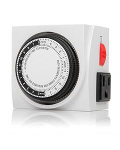 Mechanical Timer 24Hour 3-Prong Dual Outlet ON/OFF Switch