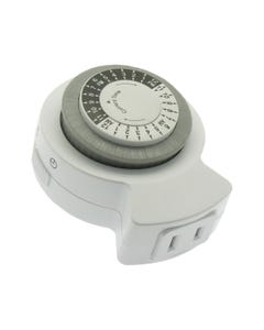 Mechanical Timer Single 2-Prong Outlet