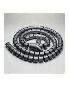 """Spiral Cable Zip Wrap Black 15mm x 1.5m (0.6"""" x 4.92Ft)"""