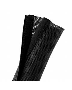 Hook and Loop Cable Sock Black 85mm x 2m