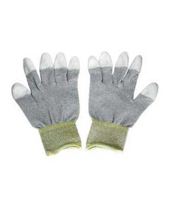 Conductive Glove, Fingers Coated w/Polyurethane Small