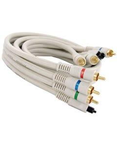 Component Video Toslink Fiber Optic Digital Cable (3-RCA + Toslink)
