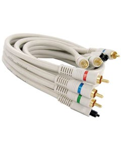 Component Video Toslink Fiber Optic Digital Cable (3-RCA + Toslink)