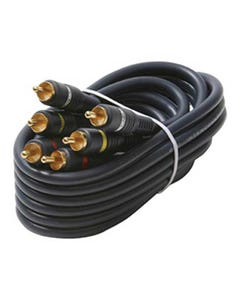 3 RCA to 3 RCA Shielded Audio/Video Composite Cable