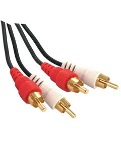2 RCA Male to 2 RCA Male Cable Gold Plated
