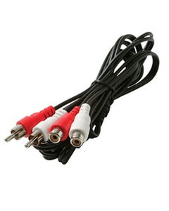 6ft 2 RCA Male to 2 RCA Female - Red and White Cable