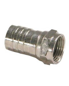 RG59 F-Type Crimp-on Connector w/Attached Crimp Ring