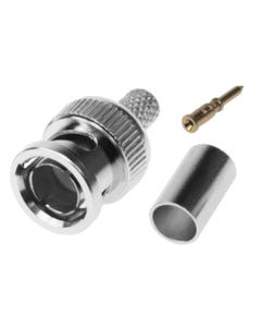RG59/62 BNC Male Crimp-on Connector 3pcs