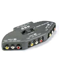 3 Way Audio Video RCA Selector