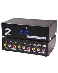 2 Way Audio Video (3RCA) Input Selector