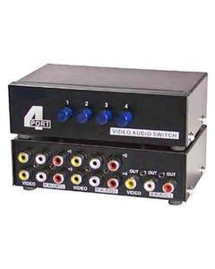 4 Way Audio Video (3RCA) Input Selector