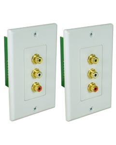 Composite Video with Stereo Audio Cat5e Wallplate Extender Kit